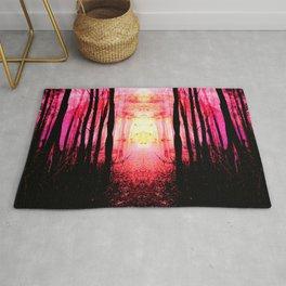 Pink Mystic Sun : Path to Imagination Rug