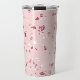 Pink Quartz Glitter Terrazzo Travel Mug