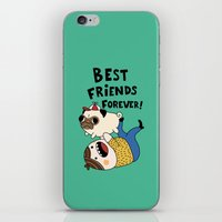 pug iPhone & iPod Skins featuring PUG by Jarvis Glasses