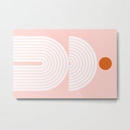 Abstraction_SUN_LINE_POP_ART_Minimalism_021G Metal Print