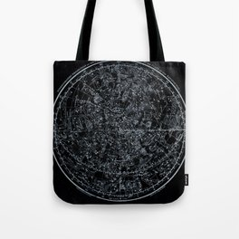 Northern Hemisphere Constellations White Blue Tote Bag