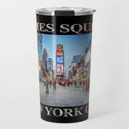 Times Square Sparkle (with type on black) Travel Mug