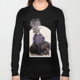 Smoking Lady Long Sleeve T-shirt