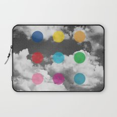 Storm Clouds + Colored Dots Laptop Sleeve
