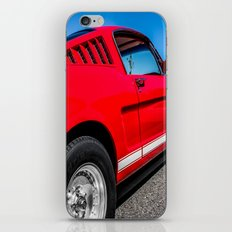 1965 Red Fastback Ford Mustang Muscle Car iPhone & iPod Skin