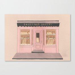 Sweetings Bakery Canvas Print