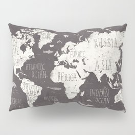 The World Map Pillow Sham
