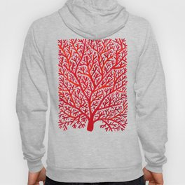 Red Fan Coral Hoody