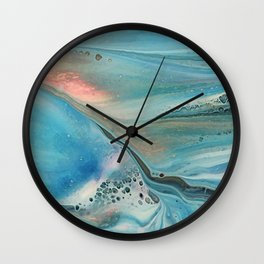 Pearl marble abstraction Wall Clock