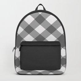 Diagonal buffalo check grey Backpack