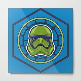 First Order TMNT Stormtrooper - Leonardo Metal Print