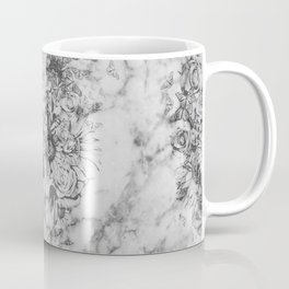 Bookmatched Marble Skull Coffee Mug
