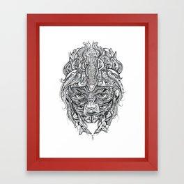 Crocodile Mask Framed Art Print