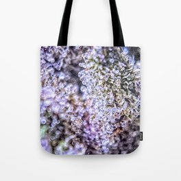 Top Shelf Grand Daddy Purple Close Up Buds Trichomes View Tote Bag