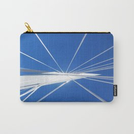 White Suspension Carry-All Pouch