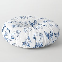 Dogs pattern Floor Pillow