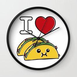 Love Tacos Wall Clock