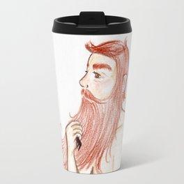 Luxurious Beard Mountain Man Travel Mug