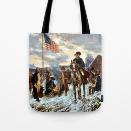 Washington At Valley Forge Tote Bag