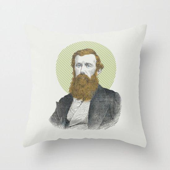 Blue Eyes, Red Beard, Gray Suit Throw Pillow