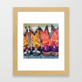 Boot Heels Framed Art Print