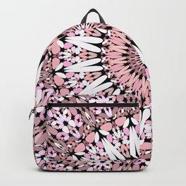 Pink Floral Gravel Mandala Backpack