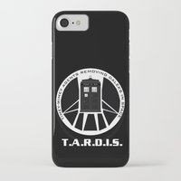 agents of shield iPhone & iPod Cases featuring Agents of TARDIS black and white Agents of Shield, Doctor Who mash up by Whimsy and Nonsense
