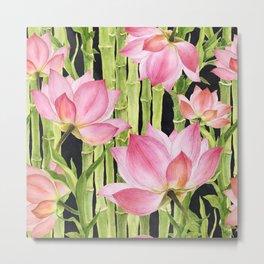 Tropical floral pattern #1 Metal Print