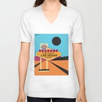 las vegas V-neck T-shirts featuring Welcome to Las Vegas by Geryes