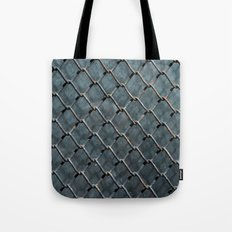 Wire and glass background texture pattern close detail Tote Bag