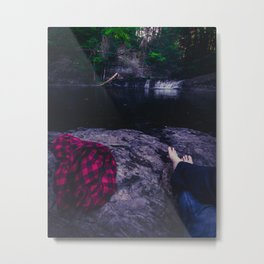 Relaxed Metal Print