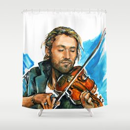 violinist plays music #3 Shower Curtain