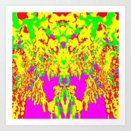Neon Drip Spider Art Print