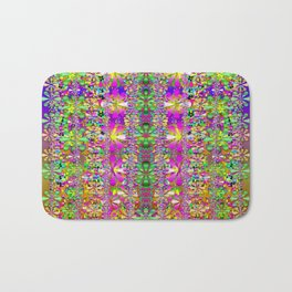 flower wall with wonderful colors and bloom Bath Mat