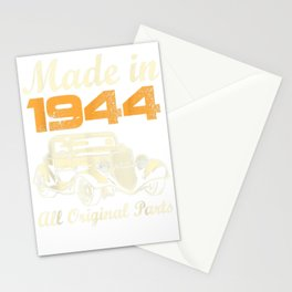 All Original Parts T-Shirt Made In 1944 75th Birthday Gift Stationery Cards