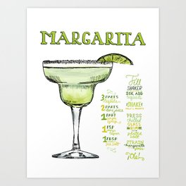 The Drink Collective: Margarita Art Print
