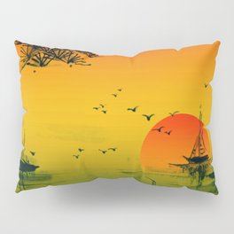 Japanese Sunset Pillow Sham