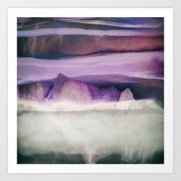northern lights Art Prints featuring Northern Lights by SpaceFrogDesigns