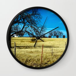 Along The Way In Clyde, Texas Wall Clock