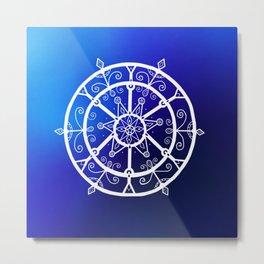 Giant Nautical Winter Snowflake  Metal Print