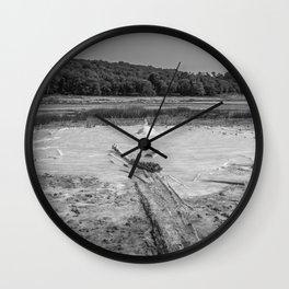 Geyser in background Wall Clock