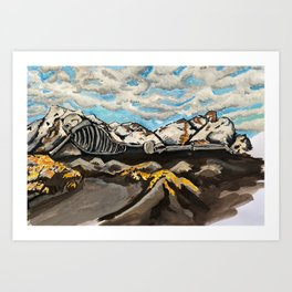 Mountain Bones Art Print