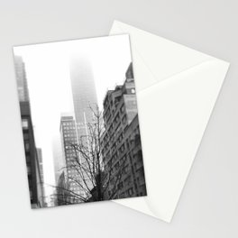 NYC in Fog Stationery Cards