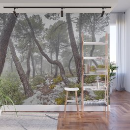 Magic forest. Into the foggy woods. Yesterday Wall Mural