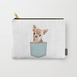 Chihuahua in Pocket Carry-All Pouch