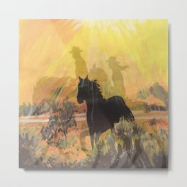 """Into The Sunset"" Metal Print"