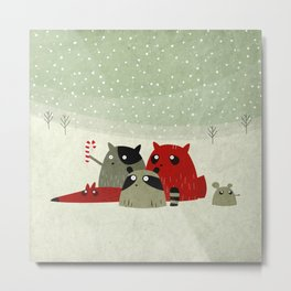 Guilty dudes in the snow Metal Print