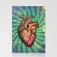 anatomical heart Stationery Cards featuring Anatomical heART by Li9z