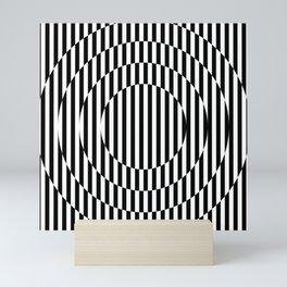 Stripes, going in circle! Mini Art Print