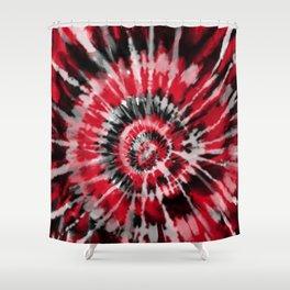 Red Tie Dye Shower Curtain